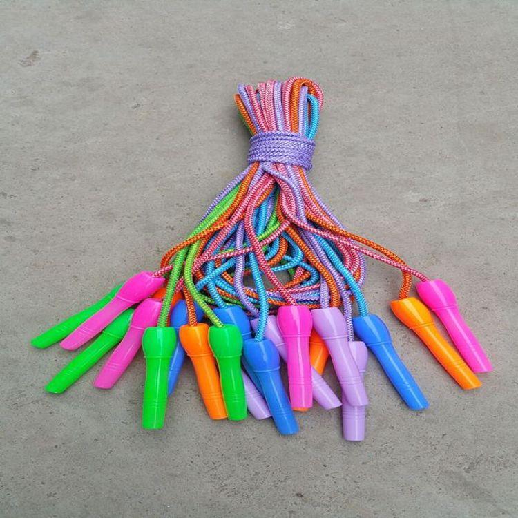 厂家直销各种散装儿童跳绳 小卖部批发进货 儿童运动健身