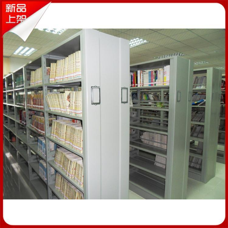 厂家直销学校图书馆钢木书架 双面 防火板木测板图书架特价促销
