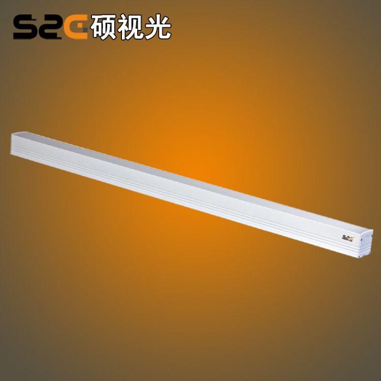 LED线条灯 60*1200  吊线式 线行灯具 无影拼接  防震音 多色可选