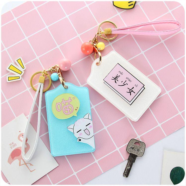 厂家批发 韩版可爱小仙女学生校牌 公交地铁卡包 创意文字卡套夹