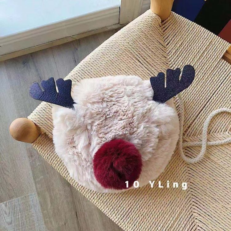 Z家圣诞麋鹿小包礼品可爱儿童斜挎包