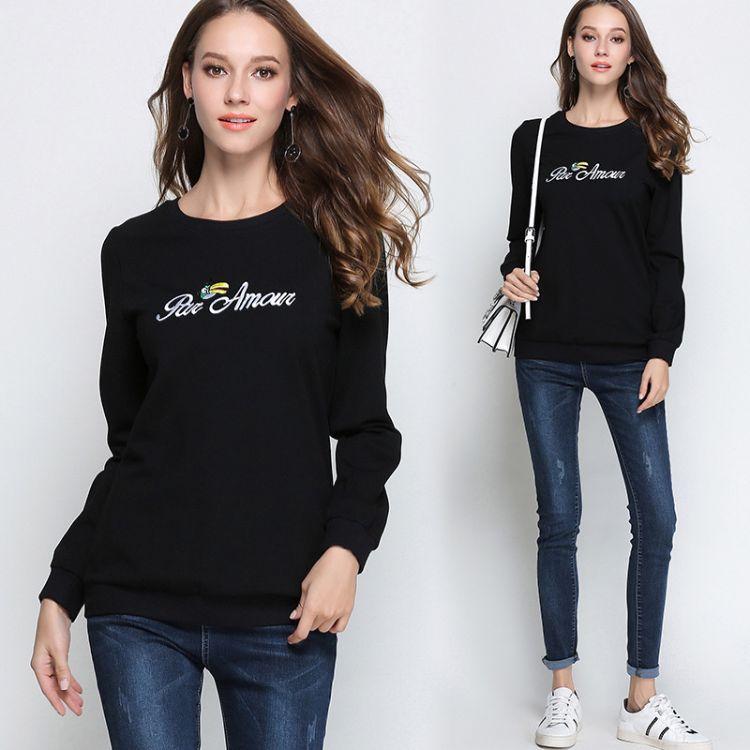 加绒加厚卫衣大码女装冬季女胖mm2018新款200斤遮肉减龄长袖T恤冬