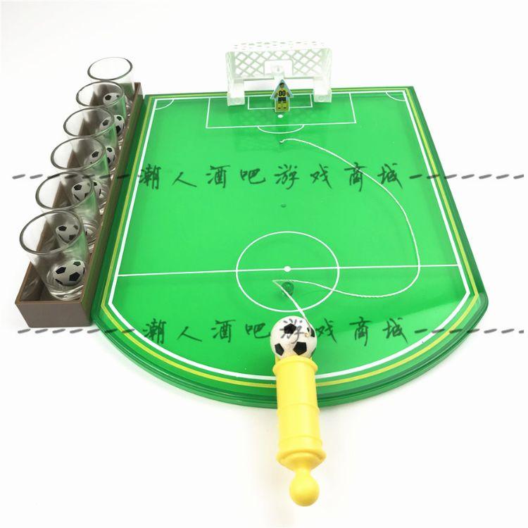创意室内迷你足球玩具桌上弹射足球台酒吧KTV喝酒助兴酒具礼物