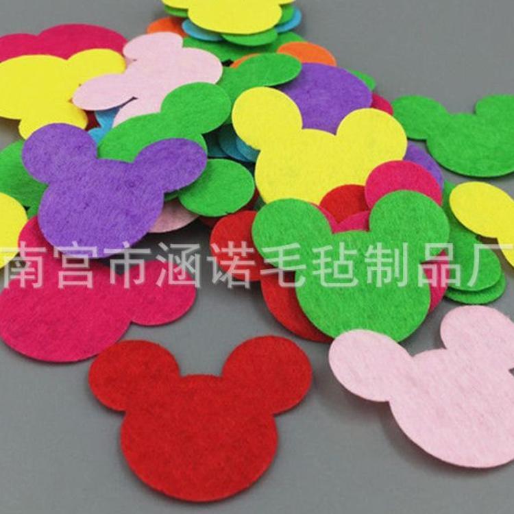 毛毡贴片幼儿园diy材料手工贴片装饰创意儿童手工动物花朵墙贴