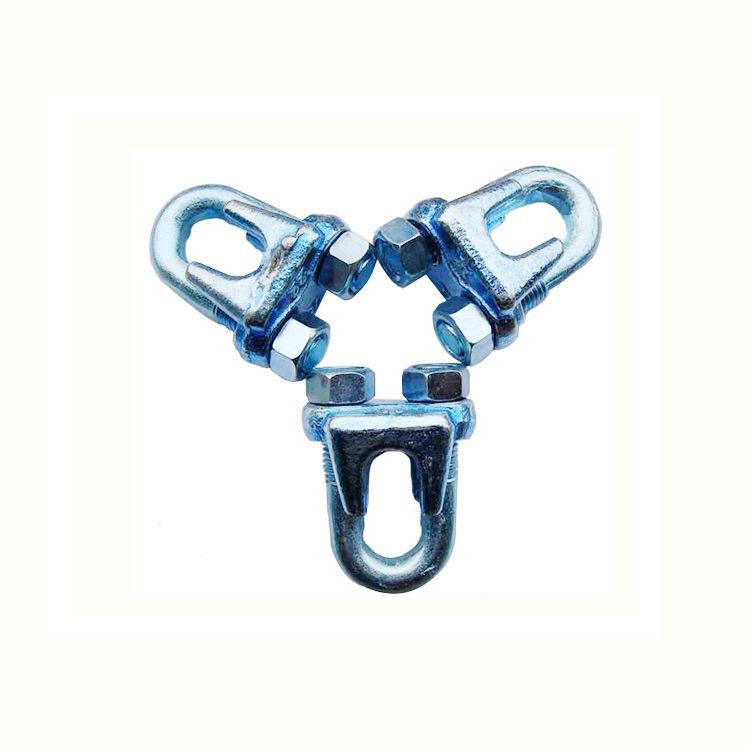 钢丝绳重型卡头 钢丝绳索具 起重锁具U型夹 钢丝绳卡头 重型卡扣