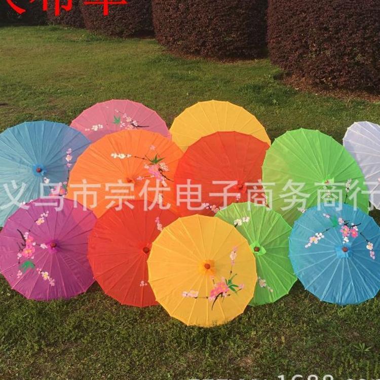大号工艺绸布伞油纸伞 景区热卖儿童跳舞伞表演道具伞 传统手绘伞