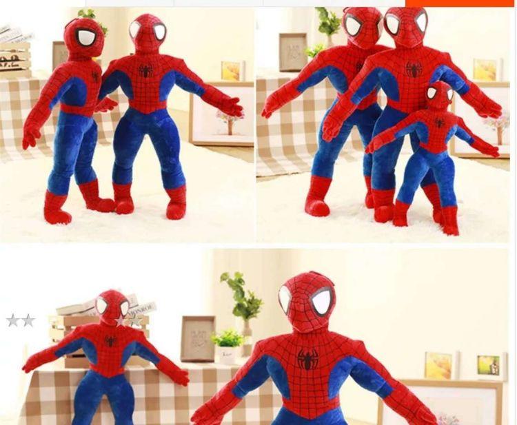 卡通动漫蜘蛛侠公仔 超大号超人 男孩生日礼物 毛绒玩具抱枕