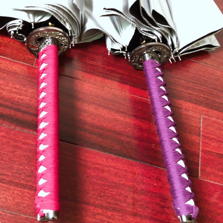 雨伞厂家定做16骨实木工艺手银胶柄武士伞 超大创意直杆长柄雨伞