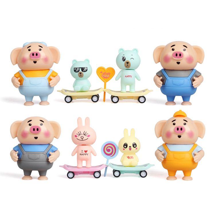 抖音同款热卖玩具海草猪萌萌猪 多款创意儿童过家家益智玩具批发