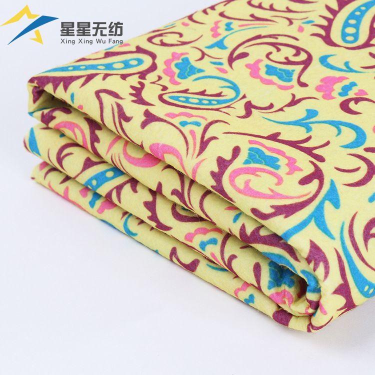 厂家直销特白印花用无纺布批发涤纶环保毛毡布定制特白印花无纺布