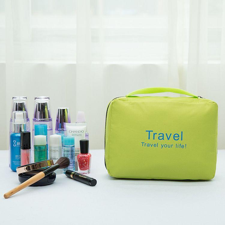 韩版化妆包简约 新款便携式手提收纳包 多功能防水收纳包厂家直销