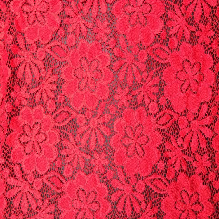 蕾丝花边辅料装饰红色蕾丝边衣服布料diy手工蕾丝带裙边棉面料条