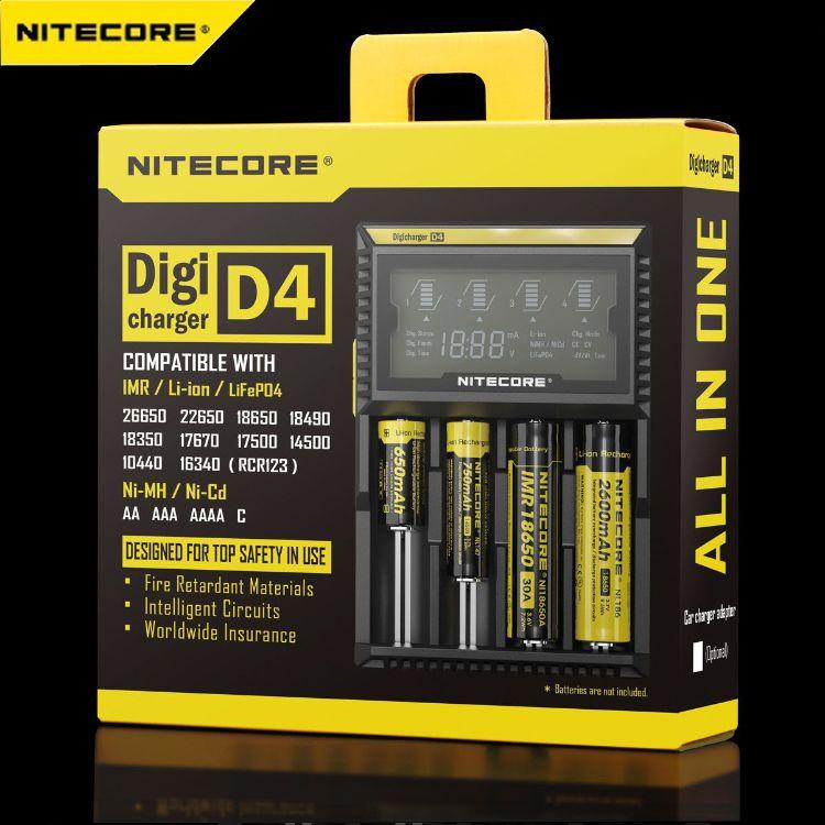 NiteCore奈特科尔 D4全自动兼容多种电池智能数码液晶充电器
