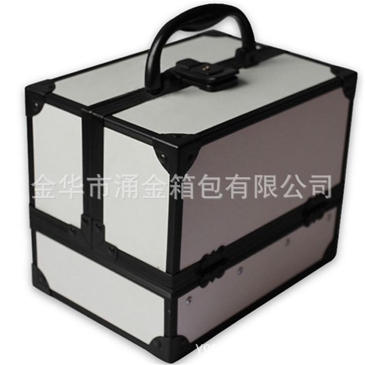义乌厂价直销27*22*18cm便携式手提专业化妆工具箱美甲箱大号