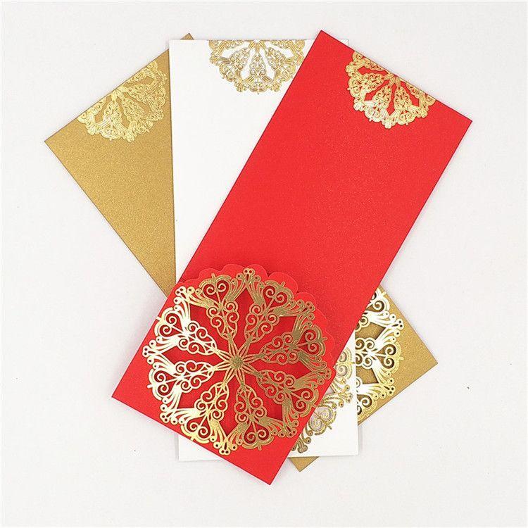 创意广告红包定做 商务红包定制印刷烫金logo 珠光纸烫金利是封