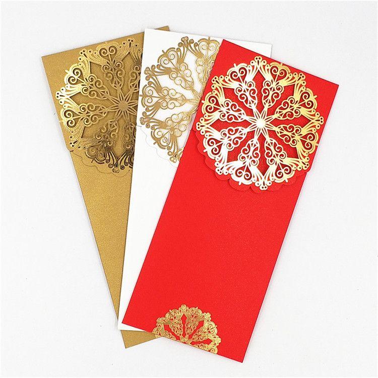个性创意高档商务红包定制 多种规格利是封定做 烫金红包