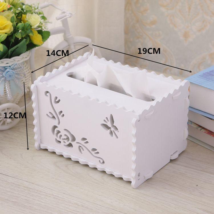 新款韩式田园环保纸巾盒餐巾纸盒木塑收纳盒高档纸抽盒创意