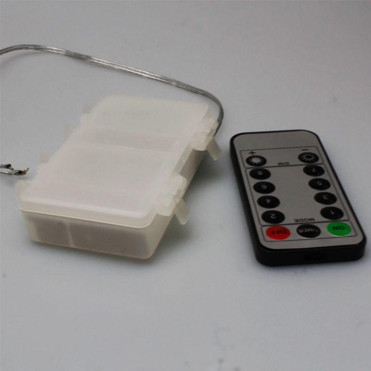 防水环保电池盒13键红外遥控30CM透明线定时8功能3AA电池厂家直销