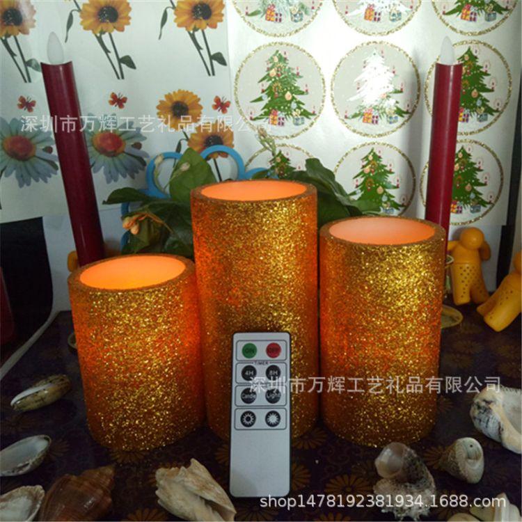 圣诞系列金粉LED电子蜡烛 酒店 酒吧 婚庆 家居礼品布置