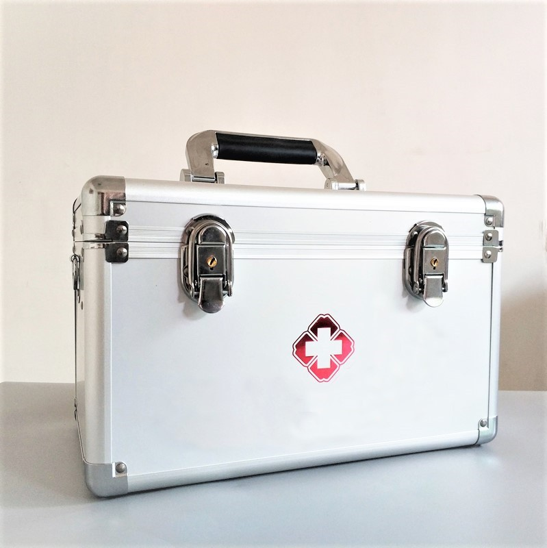 家用铝合金医药箱多层医疗出诊急救箱药品收纳箱医用药箱厂家直销