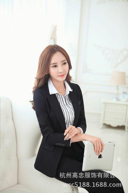2018新款女性职业装办公室白领西装衬衫