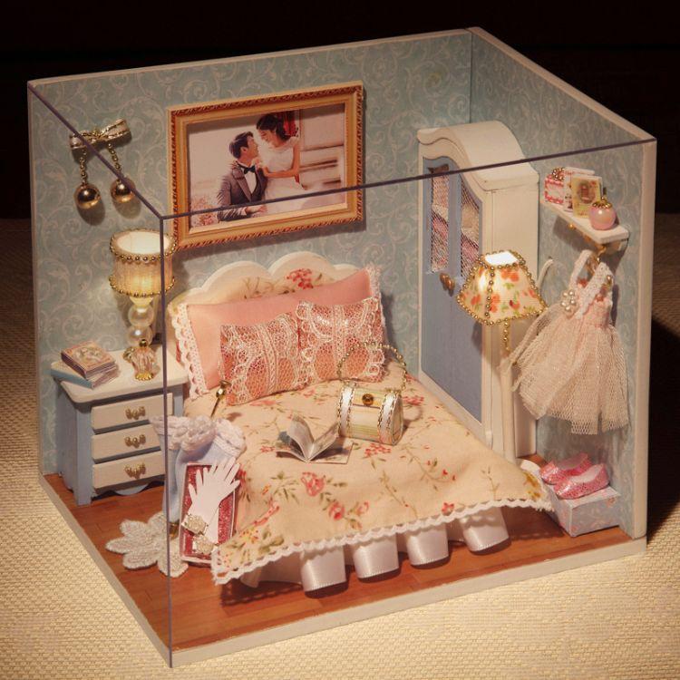 智趣屋 幸福一刻手作迷你DIY小屋场景材料包 情人节礼物 房屋装饰