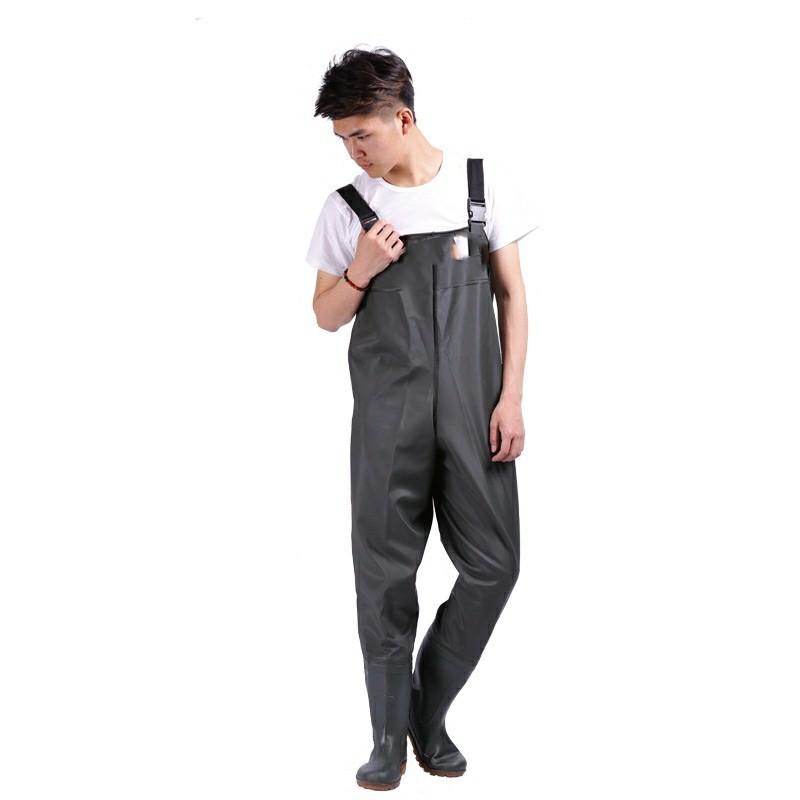 厂家直销渔福PVC连体下水裤 超轻 涉水 垂钓 背带下水裤