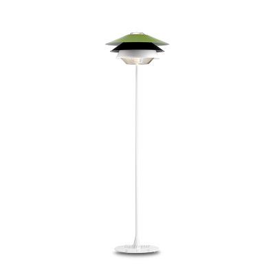 双层铝制玻璃现代极简落地灯 北京设计师餐厅客厅样板房落地灯