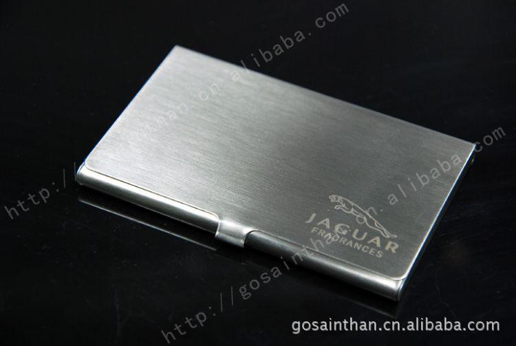 厂家供应热销款 高品质不锈钢拉丝不锈钢镜面名片夹 贴皮名片盒