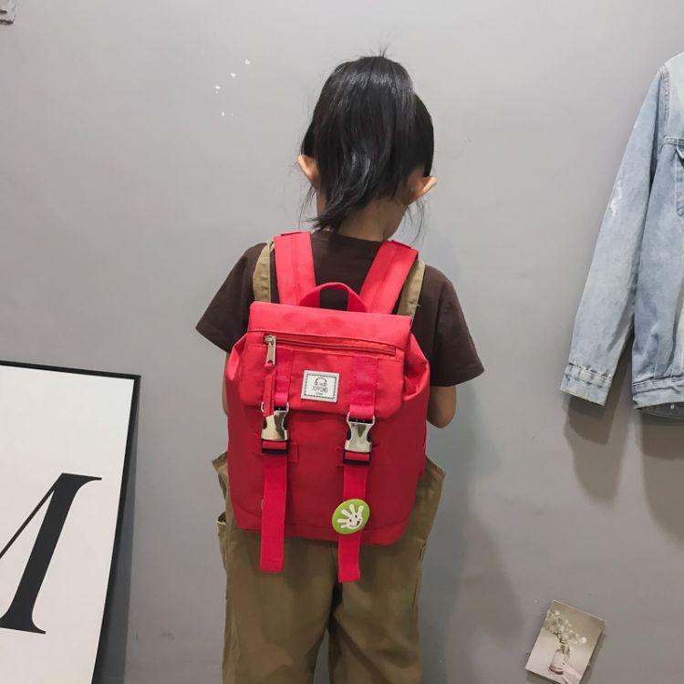 小学生帆布双肩背包批发儿童旅游背包幼儿园书包1-3-6年级学生包