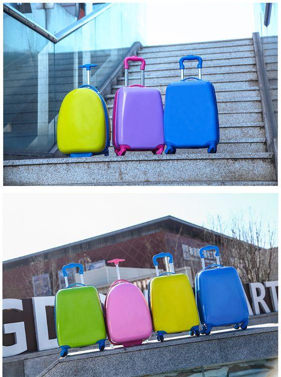 18寸来样加工定制logo拉杆箱旅行箱行李箱可爱卡通儿童万向轮ABS+PC