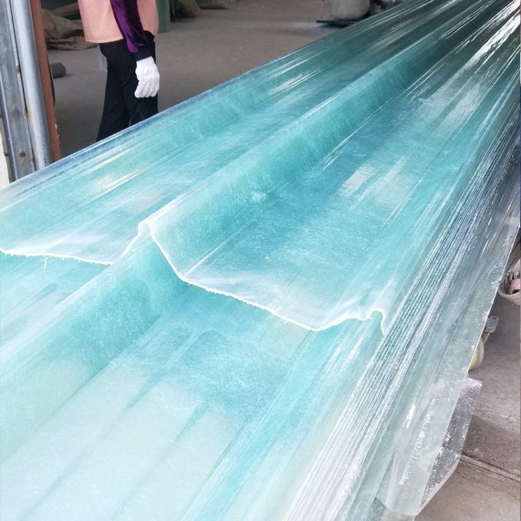 1050型加宽透明厂房屋面瓦片 厂库棚顶隔热耐高温瓦片 采光瓦楞板