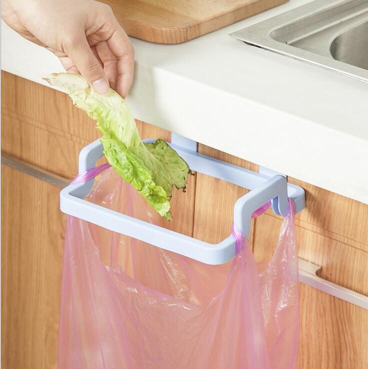 可挂式垃圾袋架厨房抖音垃圾桶橱柜门挂架收纳架子家用的支架挂钩