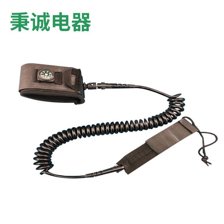 7mmPU户外防滑冲浪弹簧卷绳  冲浪板弹簧绳 脚绳