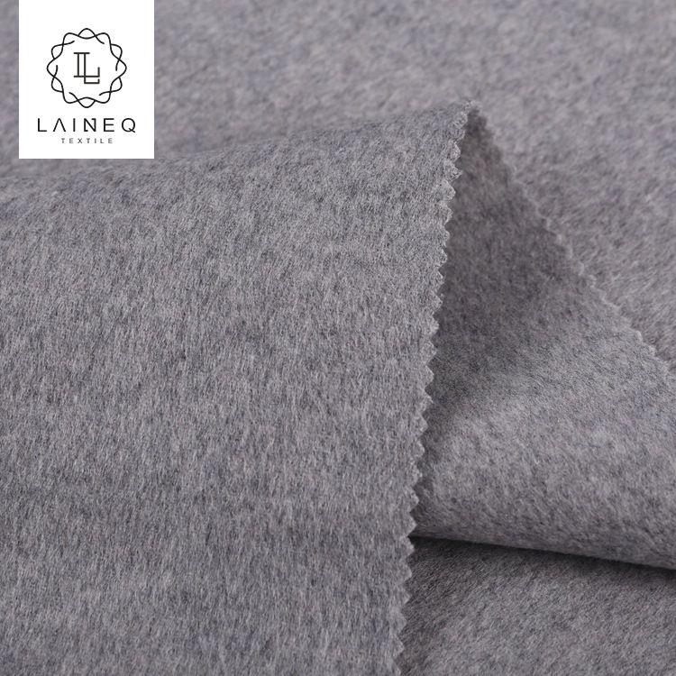 现货双面羊绒大衣顺毛呢面料10%山羊绒柔软亲肤细腻双面布料