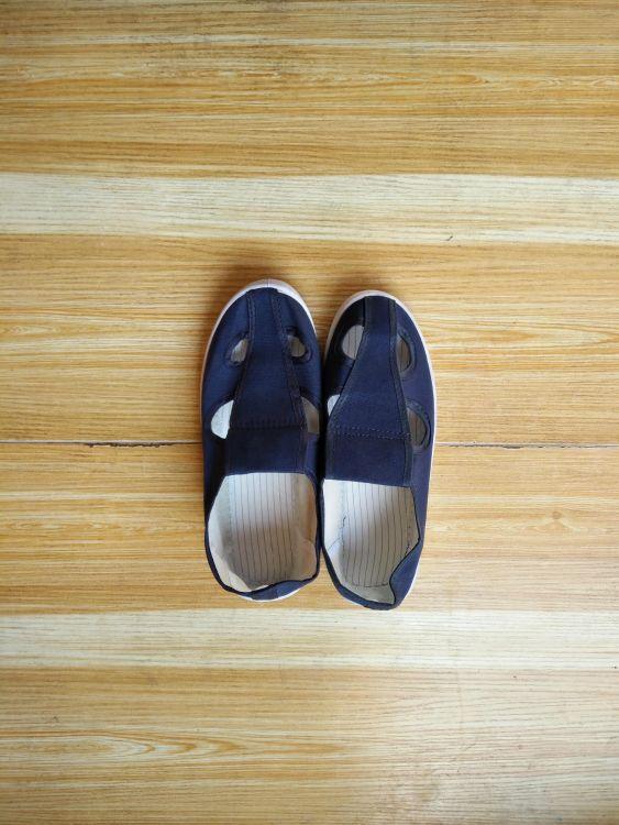 生产定制防静电鞋子 防静电四眼鞋 防静电四孔鞋 防静电帆布鞋