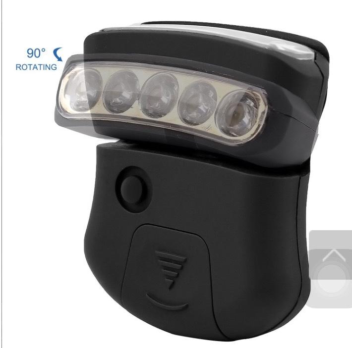 厂家直销 户外帽子灯 帽夹灯  5LED COB LED帽檐灯 钓鱼头灯