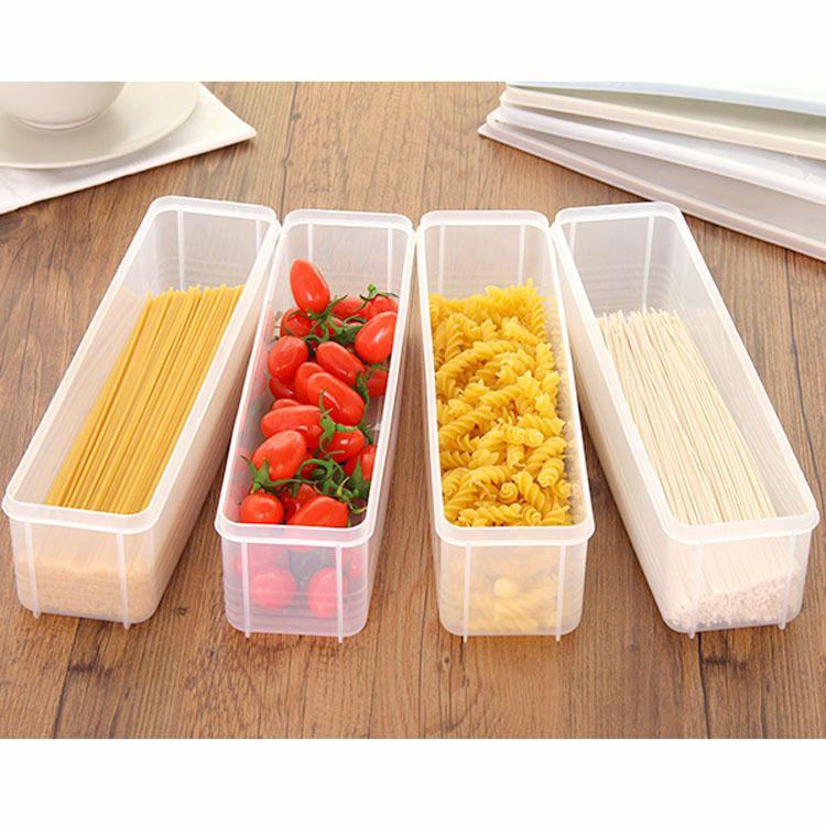 批發面條保鮮盒塑料冰箱收納盒長方形廚房筷子儲物食物密封盒家居用品廠家直銷