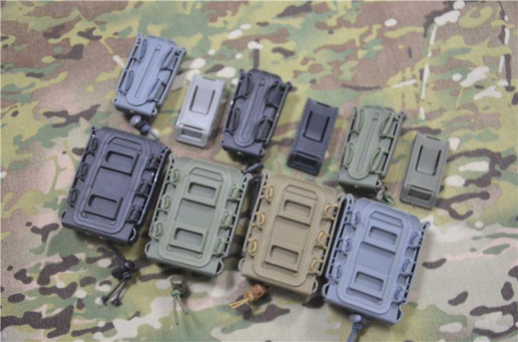 作战沙龙蝎式软壳橡胶快拔套户外专项射击配件5.56快拔弹夹7.62盒