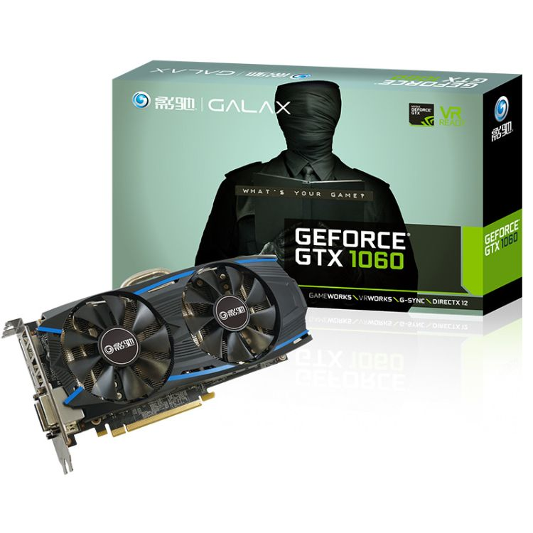 GALAXY/影驰 GTX1060黑将 3G独立电脑游戏显卡超GTX970