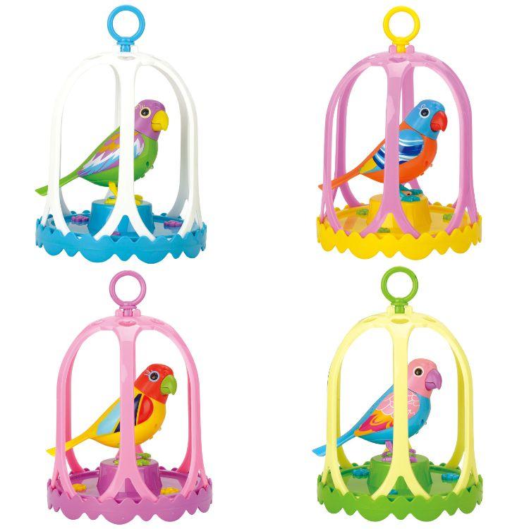 AA0564/784电动声控鸟架感应会唱歌合唱的知音鸟智能声控玩具