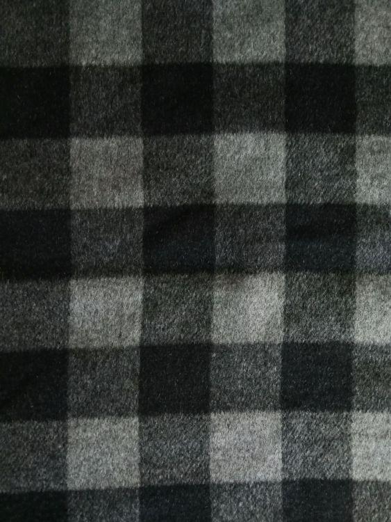 宝宏 面料毛呢黑白格子 粗纺毛纺双面呢绒面料批发