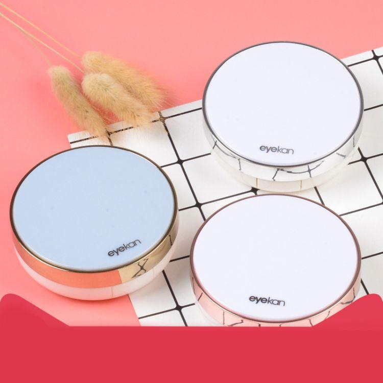 简单款式凯达美瞳盒伴侣盒双联盒子护理盒圆形隐形眼镜盒