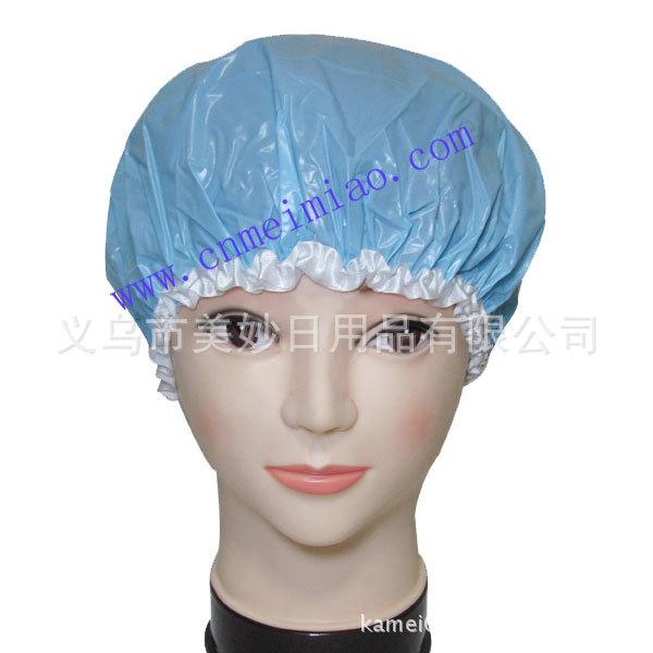 厂家直销 PVC浴帽 印花浴帽 涤纶浴帽 成人双层防水浴帽 混批外贸