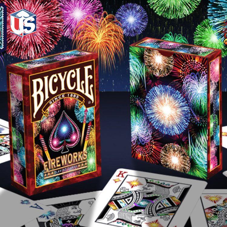 汇奇扑克 Bicycle Fireworks 烟花 美国原装进口扑克牌