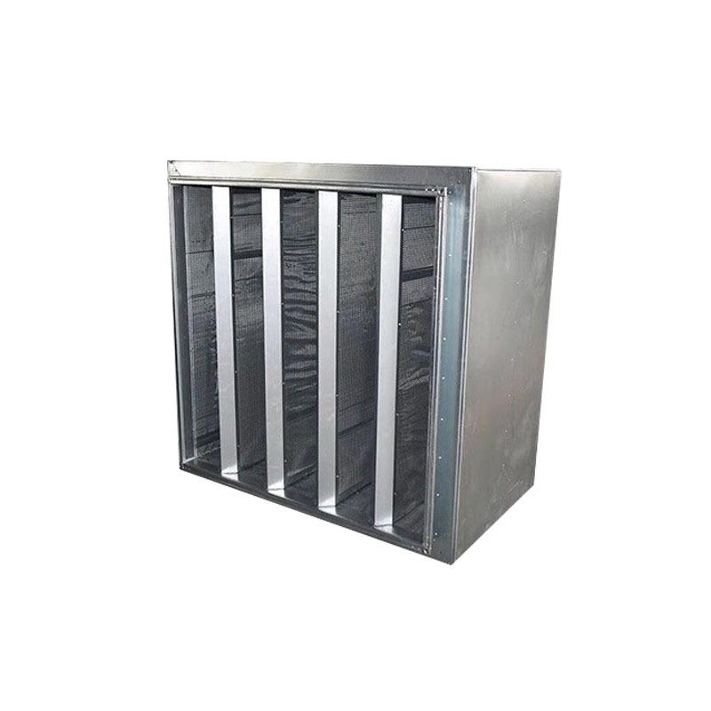 风管消音箱 方形风机消声器隔音板 共板风管折板式消声静压箱