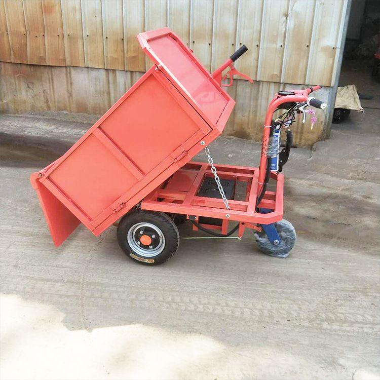 建筑工地电动灰斗车 自卸翻斗搬运电动灰斗车 电动平板运输车