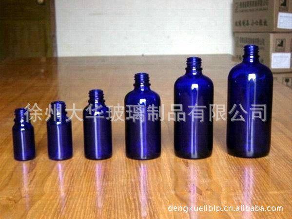 大华 新款高白料蓝色精油瓶 化妆品精油瓶