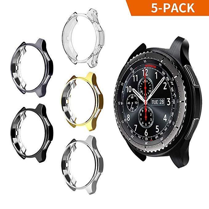 适用三星智能手表 gear s3保护套 TPU电镀防摔表壳