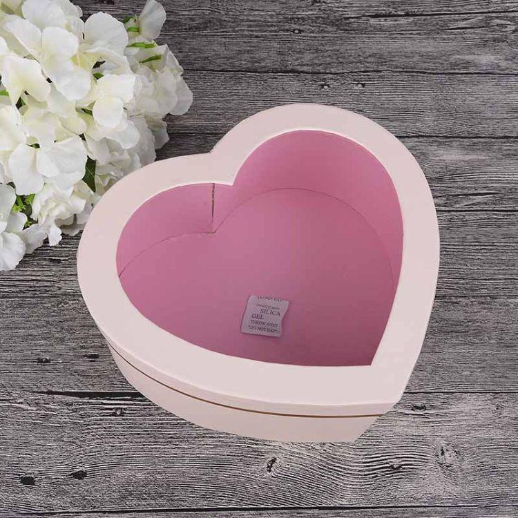 章驰水晶心型开窗展示礼品鲜花盒 精美爱心礼物包装盒子 硬盒批发